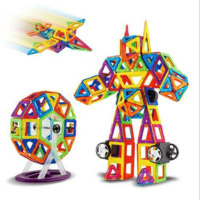 180 Piece Magnetic Blocks Building Kids Toys Boys Girls Magnet Tiles Kits