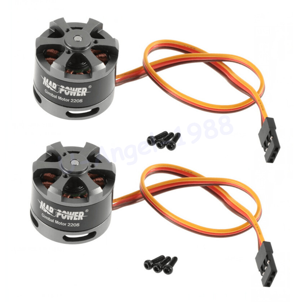 2 pcs / lot Brushless Gimbal Motor 2208 80T Untuk Gopro CNC Kamera Digital Mount FPV