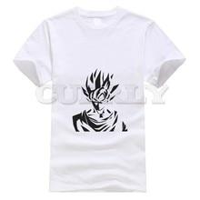 цена на 2019 new T-shirt Round neck Dragon Ball Leisure vegeta Black And White Summer dress men tee Cotton Funny t shirt Cozy