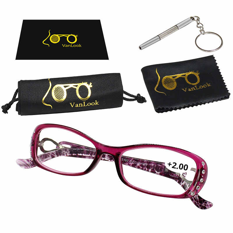 36414dcb52b ... Rhinestone Reading Glasses Women Gafas de Lectura Luxury Fashion  Spectacle +50 +75 100 125