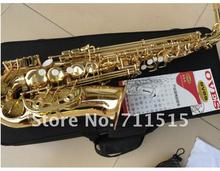 OVES Brand High Quality Alto Eb Tune Saxophone Jazz Style Surface Gold Plated E Flat Saxofone Musical Instruments With Case