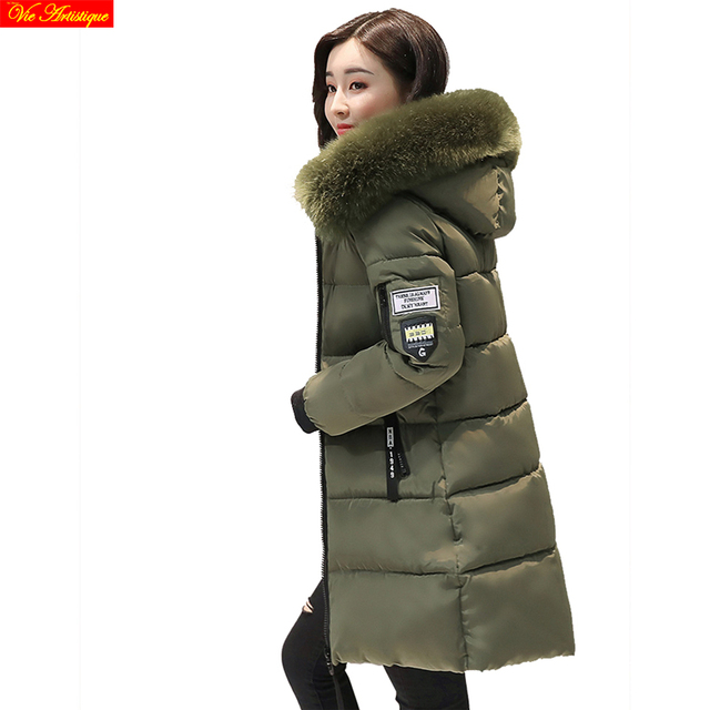 the best attitude 0ef14 46ae6 US $34.3 |Parka frauen miegofce winter warme mäntel und jacken lange femme  parka warme wintermantel frauen oberbekleidung grün rot rosa grau weiß in  ...