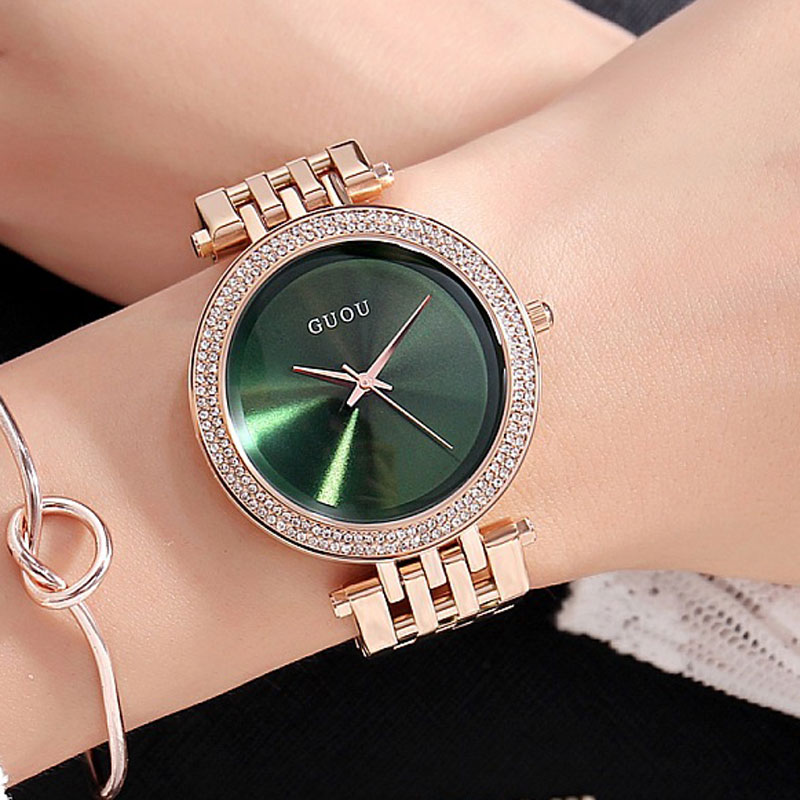 Luxury Brand Quartz Watch Women Clock Ladies Wrist Watches Female Famous quartz-watch Relogio Feminino Montre Femme 2018 sanda gold diamond quartz watch women ladies famous brand luxury golden wrist watch female clock montre femme relogio feminino