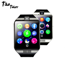 TIke Toker,Bluetooth Smart Watch Q18 With Camera Facebook Whatsapp Twitter Sync SMS Smartwatch Support SIM TF Card For IOS  08