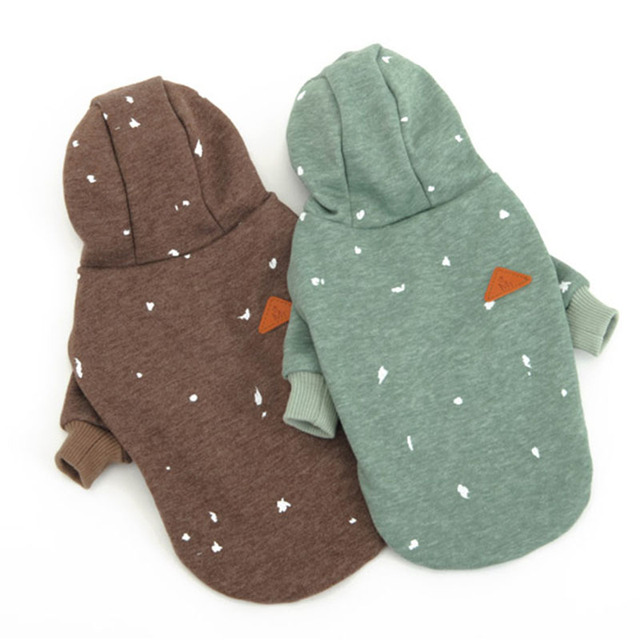 Fashion print Cat Pet Dog Hoodie Coat Jumpsuit Sweater for small Dogs puppy sportwear Sweatshirts Clothing dog Chihuahua clothes