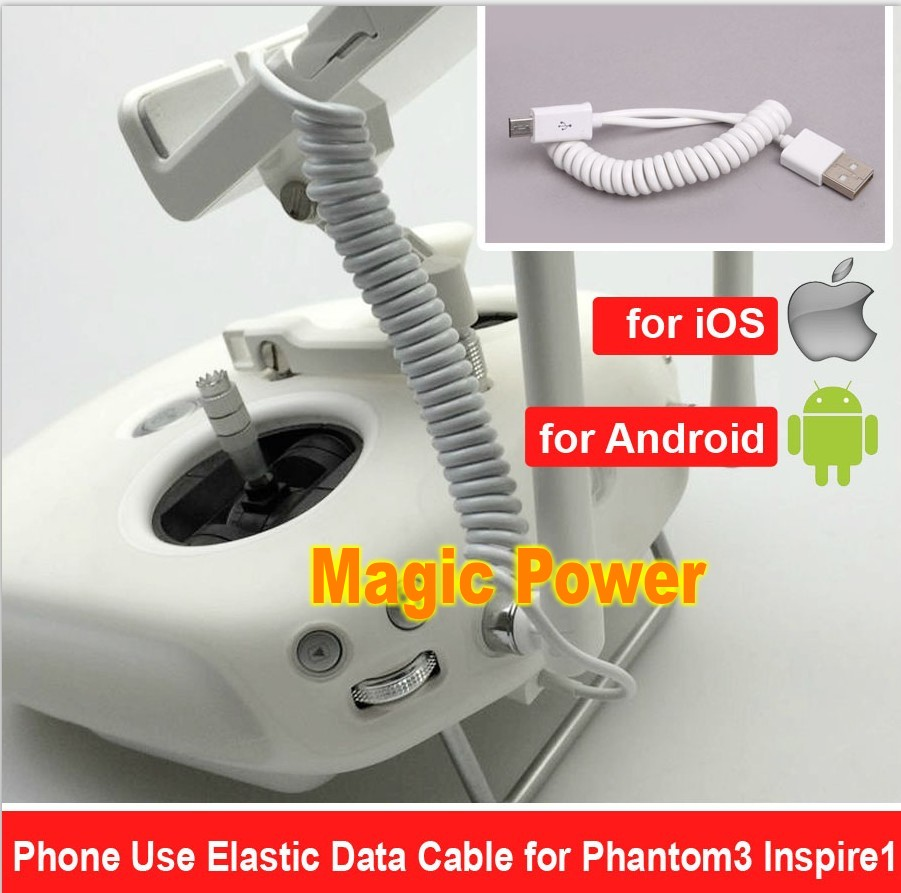 DJI Spring Data Cable Connector Wring Charger Wire For DJI Phantom 3 4 Inspire 1 IPhone I Pad IOS / Android Phones