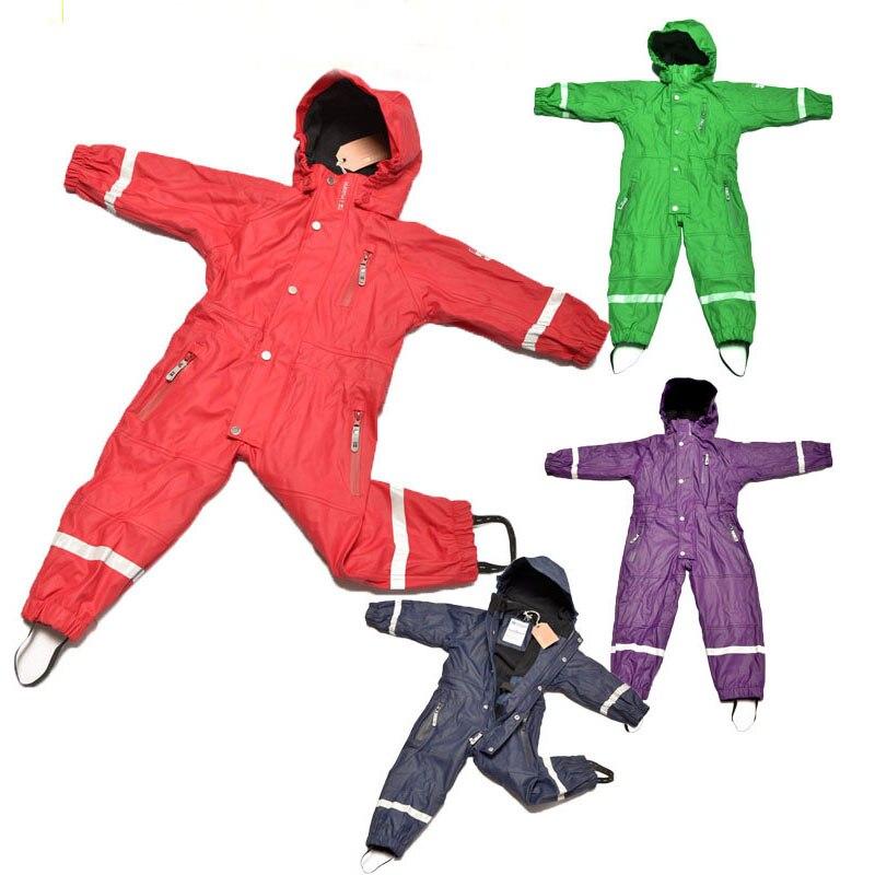 Baby Snowsuit Boys Ski Suits Kids Snow Wear Jumpsuit 1 7Y Waterproof Windproof Brand Fleece lining Girls Ski suits