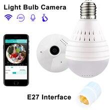 Лампа Wifi IP камера 960 P домашняя беспроводная камера безопасности панорамная рыбий глаз поддержка 128 ГБ 360 градусов ночного видения