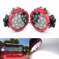 2 sztuk 51 W Auto Okrągły LED Work Light Spot High Power 4x4 Oświetlenie Robocze Ciężarówka SUV ATV Offroad Samochodów Światło Przeciwmgielne Jazdy Głowy światło
