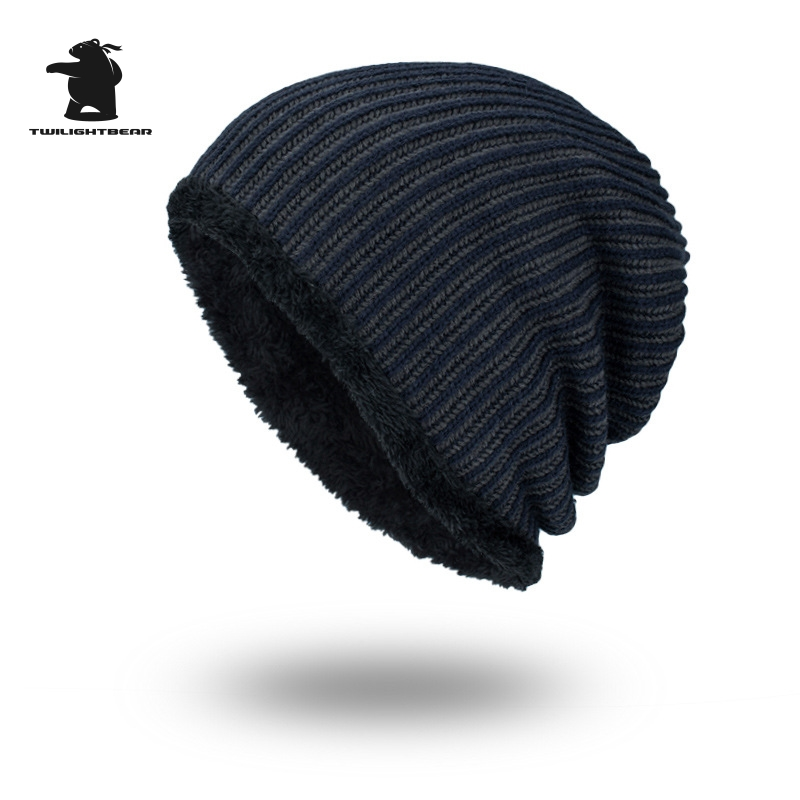 2017 New Men's Winter Hat Fashion Fleece Skiing Beanies Caps Warm Knitted Beanie Bonnet hats men Gorros Invierno Cappelli CY6E63 unisex letter dragon winter hats skullies beanies men woman beanie knitting hat knitted cap new design invierno bonnets gorros