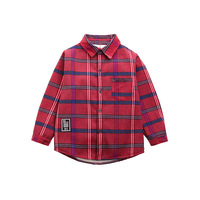 Boys Plaid Cotton Sweatshirt New Plus Velvet Long Sleeve Blouse Children Shirt Boys Outerwear