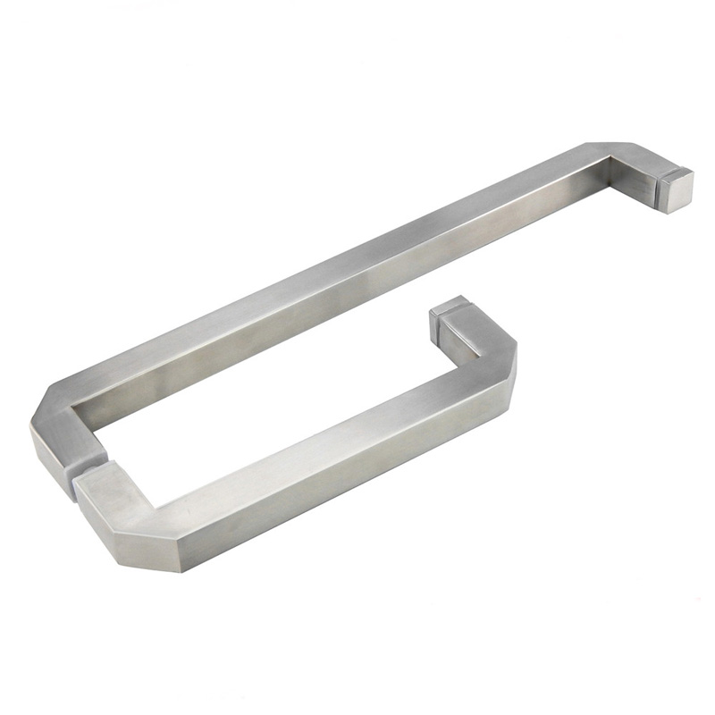 304 Stainless Steel Glass Door Handle Shower Room Bathroom Door Pull L Shape Handles Handrails