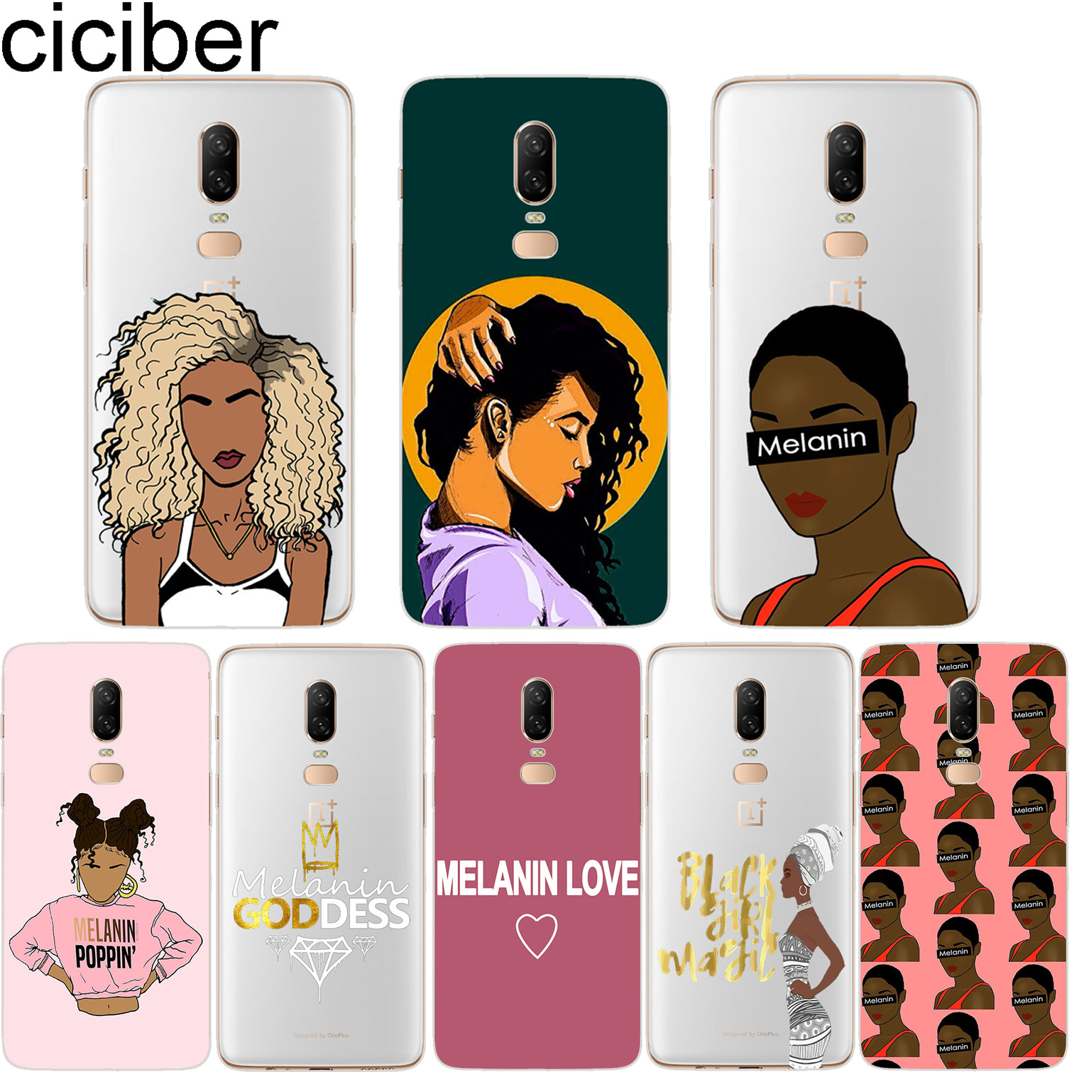 Cellphones & Telecommunications Generous Ciciber 2bunz Melanin Poppin Aba Phone Case For Oneplus 6 5 T Soft Tpu Back Cover Clear For 1 6 1+5 T Fundas Afro Black Girl