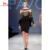 Black Lace Manga Comprida Ver Através Bateau Pescoço Vestidos de Celebridades Árabe Ocasiões Mulheres Vestidos de Festa Vestido de Noite Elegante Formal