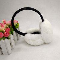 The New Real Rabbit Fur Ear Protection Earmuffs Plush Cute Earmuffs Men And Women