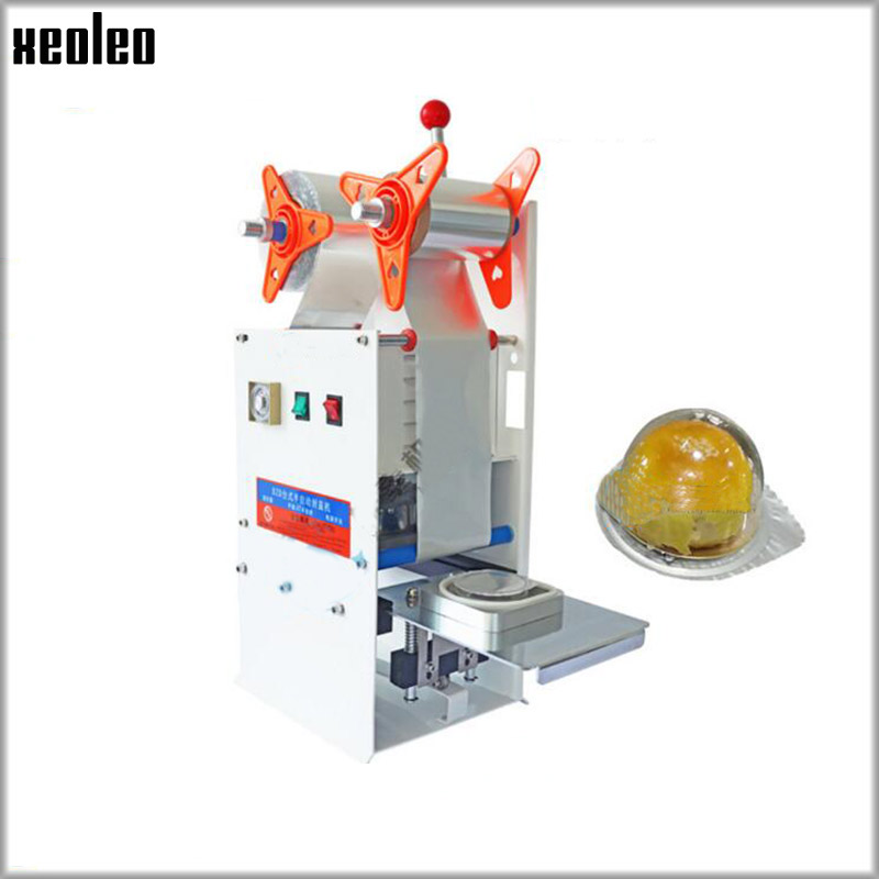 XEOLEO Manual PET Aluminum foil cup sealing machine Aluminum film Egg yolk cake cup sealer for 76mm cup cute tiger shaped aluminum alloy cake pudding jelly cup mould golden