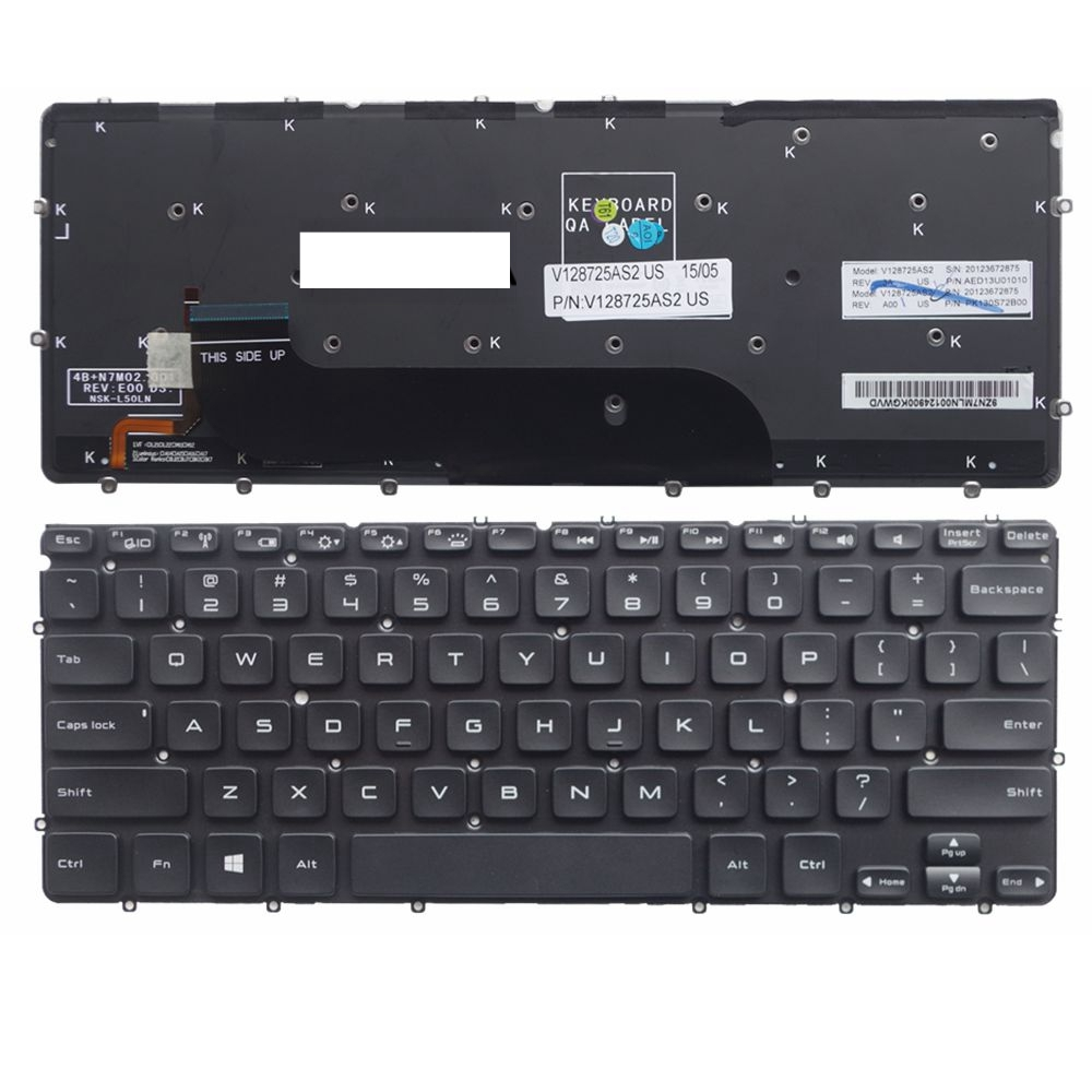 US Black New English Replace laptop keyboard For DELL XPS13R XPS13D XPS13 XPS 12 L221x 9Q23 9Q33 backlight