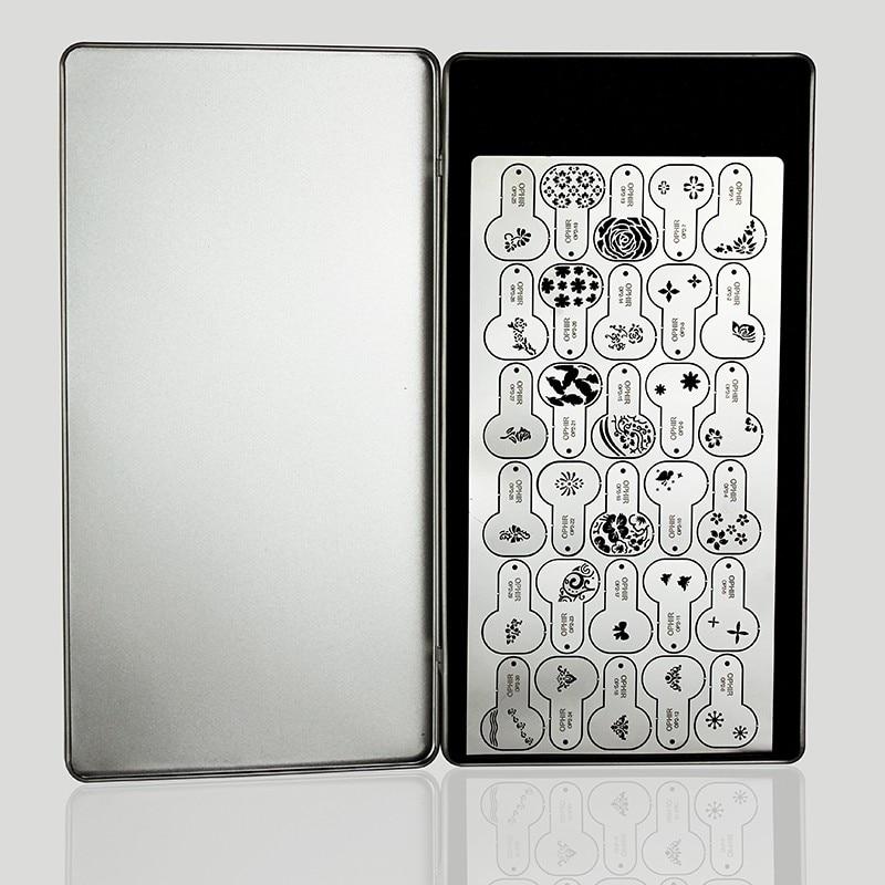 OPHIR Airbrush Estêncil Do Prego do Metal