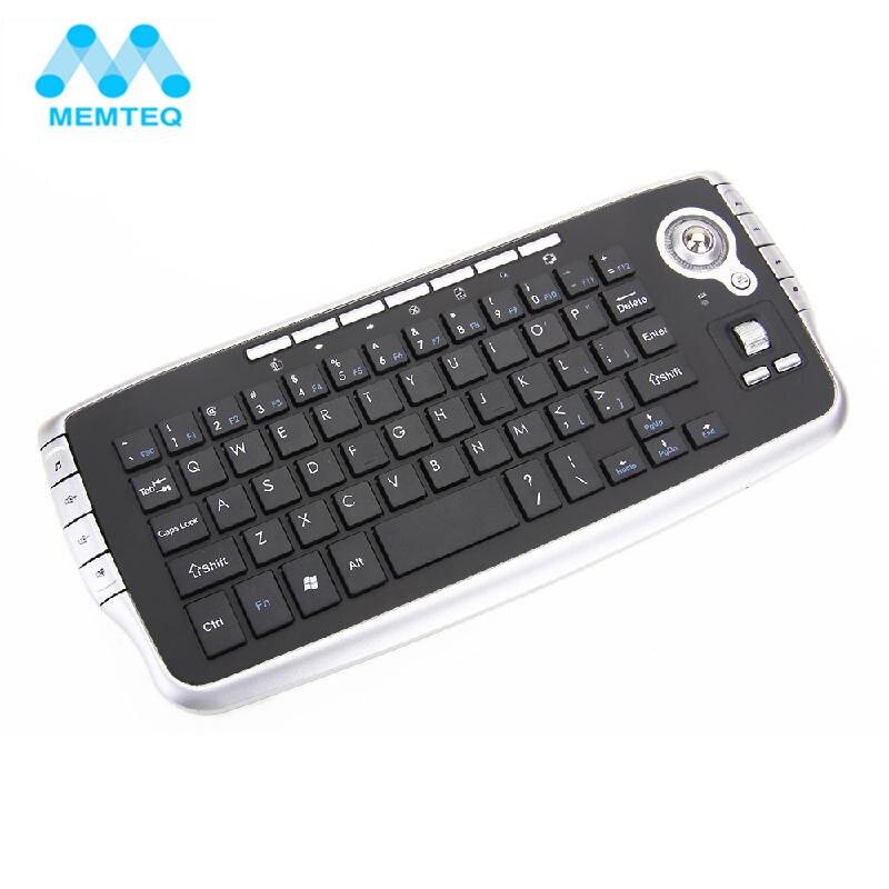 MEMTEQ Mini 2.4g Sans Fil Clavier avec Trackball Ciel Écureuil De Poche Touchpad Gaming Clavier pour Mart TV Box Android