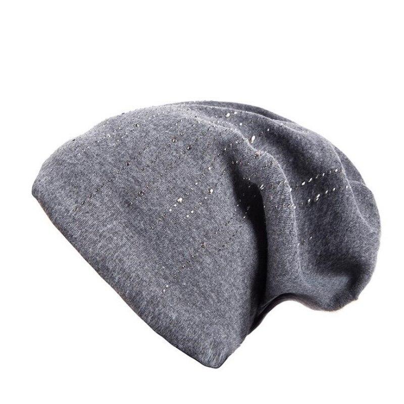 oZyc new fashion Women's Hats Men Rhinestone Elegant Wool   Beanie   Fashion New 2018 Winter Knitted Hat Female   Skullies     Beanies