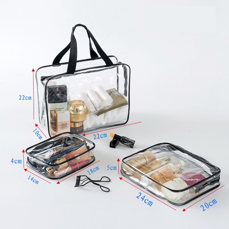 755327bcb1c1 US $1.75 20% OFF Transparent PVC Bags Travel Organizer Clear Makeup Bag  Beautician Cosmetic Bag Beauty Case Toiletry Bag Make Up Pouch Wash Bags-in  ...