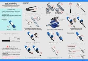 Image 3 - 200PCS/Pack FTTH ESC250D APC UPC Single Mode Fiber Optic SC APC Quick Fast Field Assembly Connector For Drop Cable Best Price
