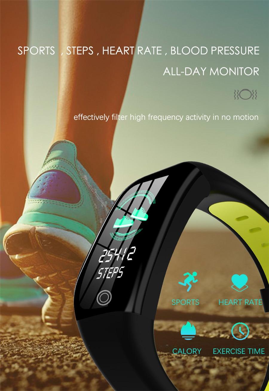 HTB1XTd3eRWD3KVjSZKPq6yp7FXaM F21 Smart Bracelet GPS Distance Fitness Activity Tracker IP68 Waterproof Blood Pressure Watch Sleep Monitor Smart Band Wristband
