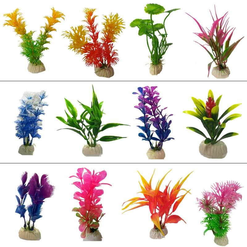 12 Kinds Underwater Aquarium Plants Artificial Aquatic Plant Ornaments Aquarium Fish Tank Green Water Grass Landscape Decoration