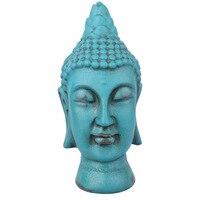 Resin Crafts Chinese Zen Buddha Head Ornaments Living Room Porch Buddha Statue Feng Shui Furnishings Retro Buddha Sculpture Gift