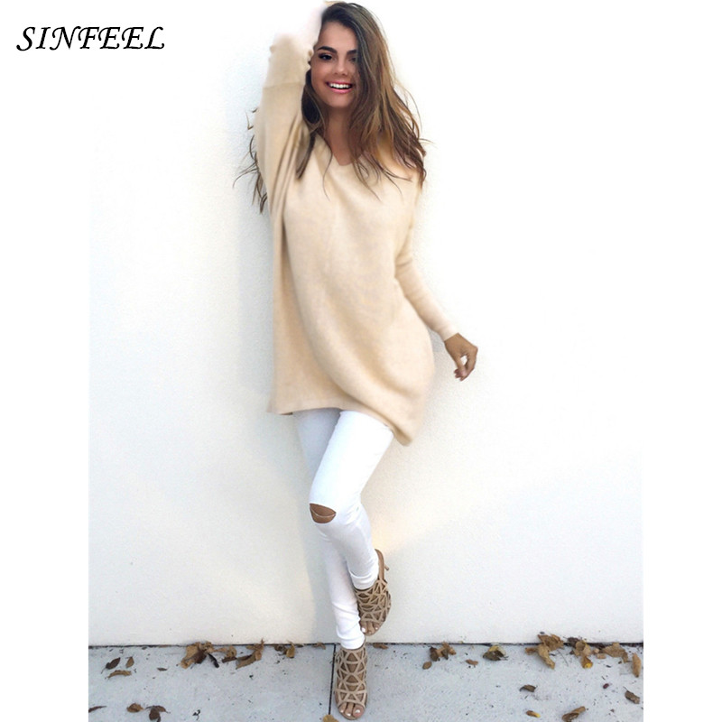 Strict Sweater Shirt Women Jumper 2017 Spring Autumn Oversized Sweaters Women Knitwear Loose Sweaters Female Pullovers Pull Femme Top Sales Of Quality Assurance