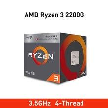 Nouveau amd ryzen 3 2200g cpu 3.5GHz 4 Core 4 fils Socket AM4 processeur Original avec Radeon Vega 8 graphiques TDP 65W 14nm