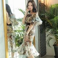 Dabuwawa Sexy off shoulder summer dress women Halter backless floral print long dress 2018 Ruffle bohemian maxi dress vestidos