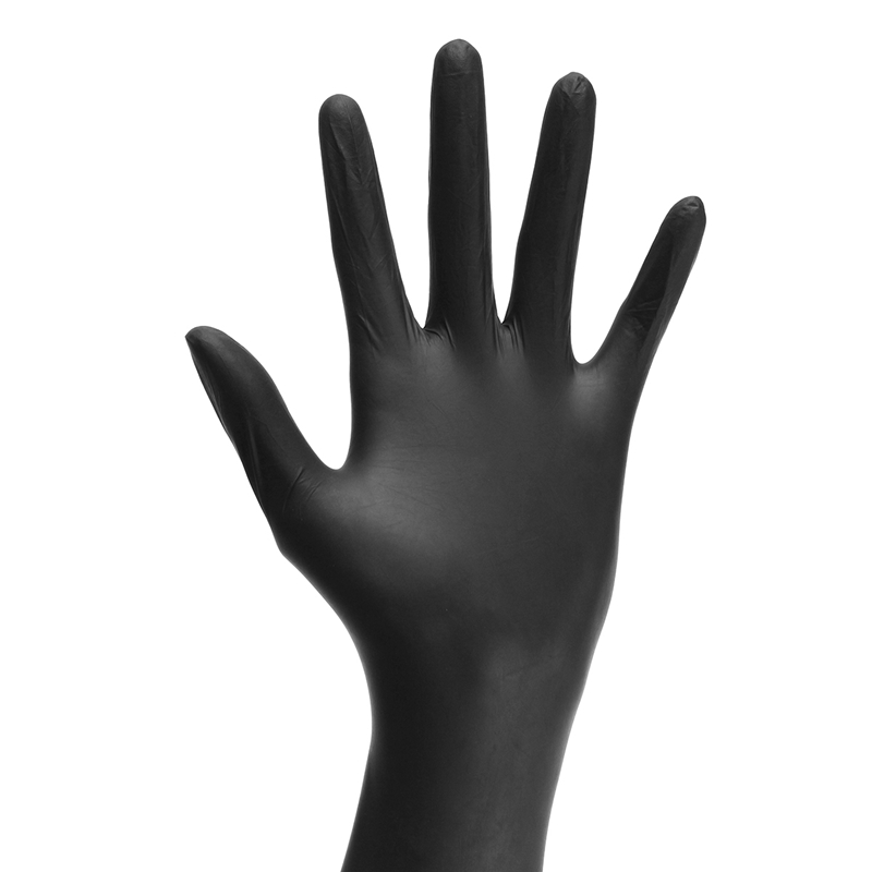 Small Black 9.5 FDA Approved 4-Mil Disposable Powder-Free Textured Nitrile Gloves Magid Safety T9410 Disposable Nitrile Gloves 100 Gloves