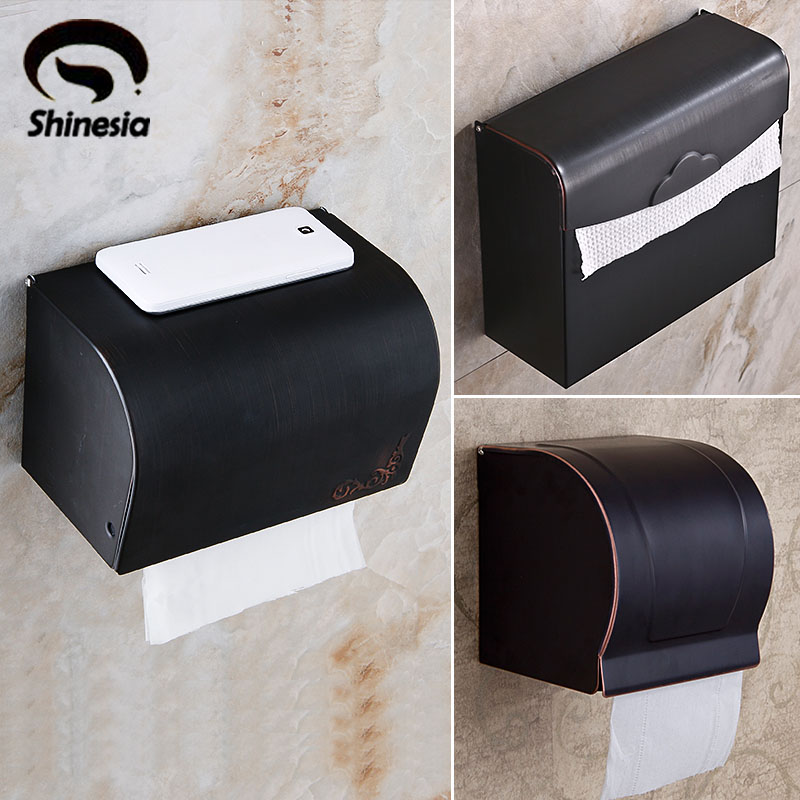 Wholesale and Retail Wall Mount Bathroom Toilet Paper Holder Solid Brass Oil Rubbed Bronze allen roth brinkley handsome oil rubbed bronze metal toothbrush holder