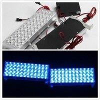 03001 DC 12V 2X48 2*48 96 LED Strobe Flash Warning EMS Car Light Flashing Firemen Yellow White Blue Amber Red