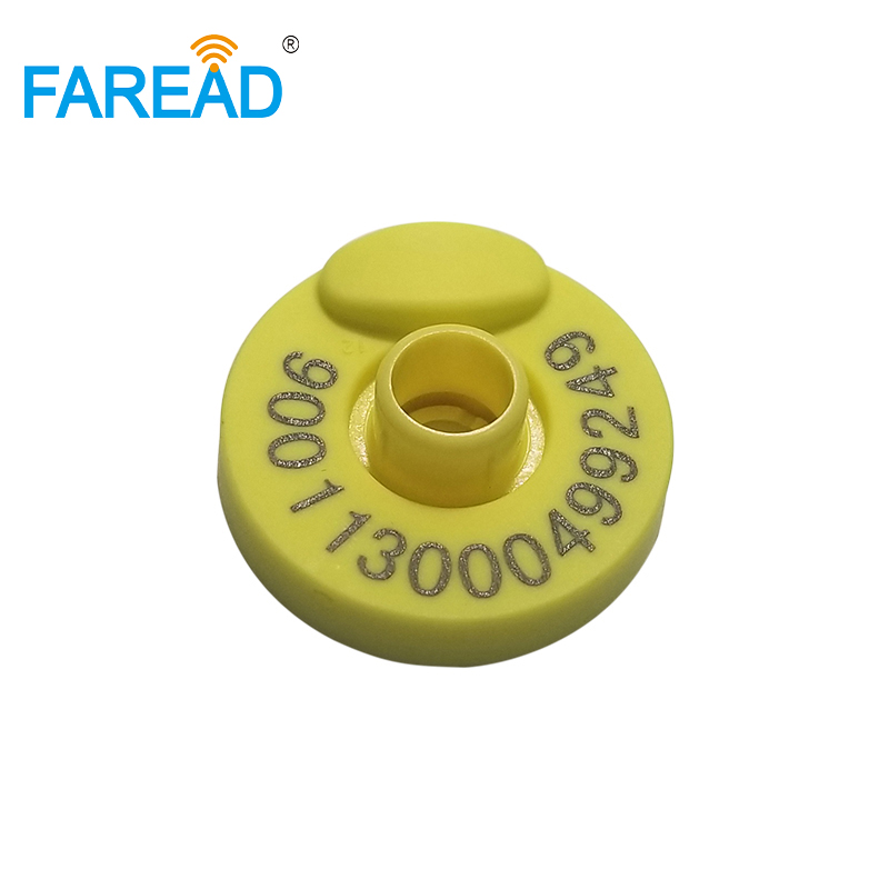 X10pcs ISO 11784/5 FDX-B Round Ear Tag Animal Ear Mark For Pig, Cow,sheep,etc