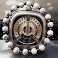 Fashion Bracelets Men Natural Agate Stone 24K Gold Plated Beads Charm Bracelets Female Men Jewelry Yoga pulseras con turquesa
