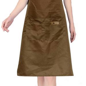 Image 3 - Lady women men ajustável lona de alta qualidade cozinha avental para cozinhar cozimento restaurante manicure salão de beleza casa evitar óleo