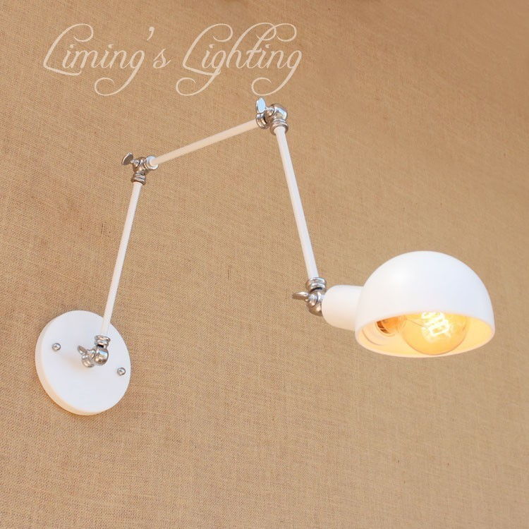 Loft Style Edison Wall Sconce Bedside Lamp Long Arm Industrial Vintage Wall Light Fixtures For Home Lighting Lampara Pared white blue stitching color 4 4 glass fiber violin case
