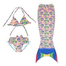 Летний популярный детский купальник, качественный купальник для девочек-подростков из двух предметов, банный костюм с русалочкой, Детская Одежда для пляжа