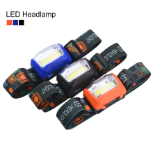 New Headlamp 8W 3 Mode Headlamps COB Chip Torch AAA Headlight Head Light Waterproof Lanterna Out door Super Bright for Hiking(China)
