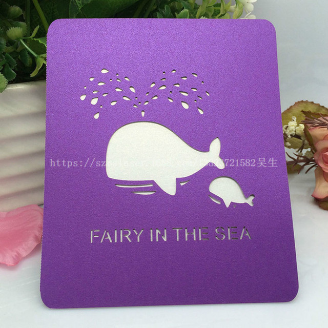 50pcs laser cut greeting card wedding invitations cardchristmas 50pcs laser cut greeting card wedding invitations cardchristmasbirthday hollow dolphin postcards blessing filmwisefo
