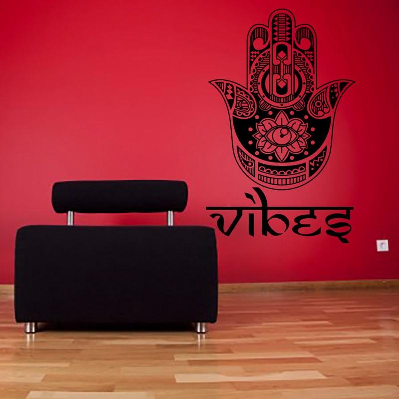 Hand Buddha Zitate Namaste Wandtattoos Yoga Mandala Wandaufkleber Wohnzimmer Diy Wohnkultur Lotus Dekoration