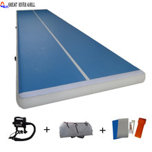 cheap inflatable air track gymnastics mat for training fitness mat print 30ft with free pump 9m x 2m x 0.2m for sale