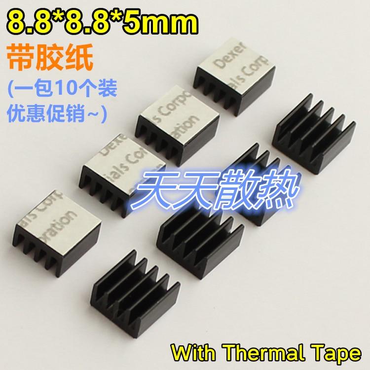 1pcs items black 8 8 8 8 5mm tape gummed heat sink electronic font b computer