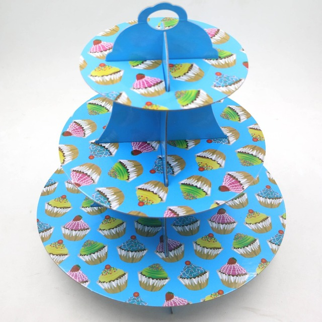 1setlot 3 Layers Happy Birthday Cake Holder Baby Shower Party Kids