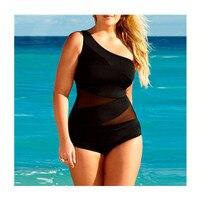 Net Iplik Patchwork Bikini Bir Omuz Kadın Mayo Mayo Seksi Bayanlar Siyah Tek Parça Mayo Plaj Bodysuit Biquinis