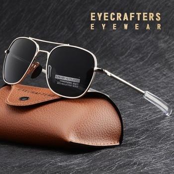 Fashion Black American Army MILITARY Polarized Pilot Sunglasses Mens Brand American Optical Polarized Sun Glasses Oculos De Sol military optical r