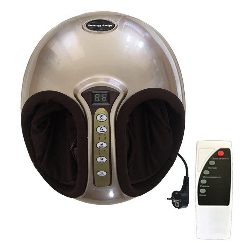 220 V électrique Antistress 3D Shiatsu pétrissage pression d'air masseur de pieds infrarouge Machine de soins des pieds chauffage et thérapie prise EU