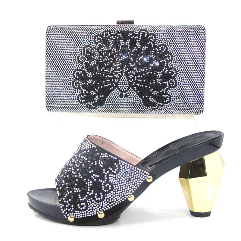 ФОТО Italy matching bag and shoes high quality italian shoes and bags to match women matching shoes and bags for party !HJJ1-12